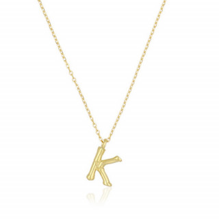 Collier Lettre K Bambou