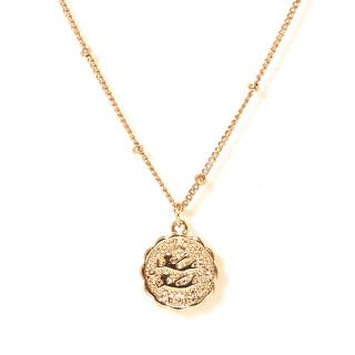 Collier médaille astrologique GEMEAUX