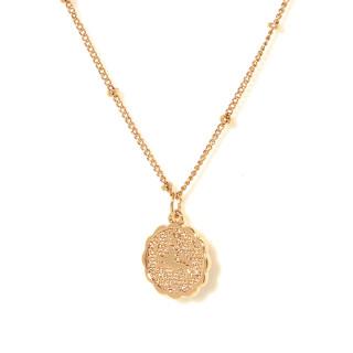 Collier médaille astrologique LION