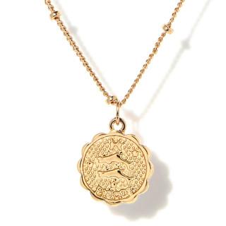 Collier médaille astrologique POISSON