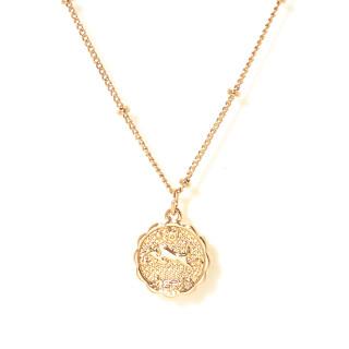 Collier médaille astrologique TAUREAU