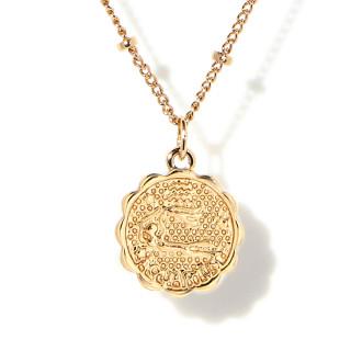 Collier médaille astrologique VERSEAU