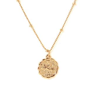 Collier médaille astrologique VIERGE