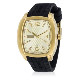 Montre Homme Smalto LANA cadran doré - bracelet silicone - 42 mm
