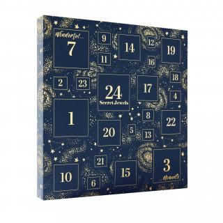 Calendrier de l'avent Bleu - 24 Bijoux