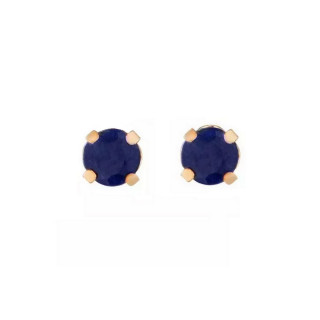 Boucles d'oreilles Or Jaune 375/1000 et Saphir