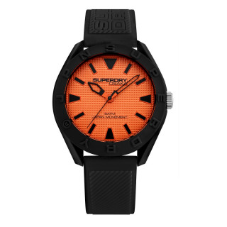 Montre homme Superdry OSAKA - cadran orange - bracelet noir