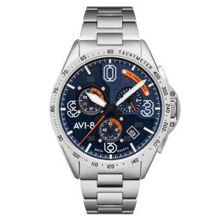 Montre AVI-8 P-51 MUSTANG méca-quartz chronographe - cadran bleu
