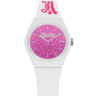Montre femme Superdry - cadranrose -braceletblanc