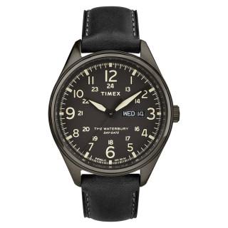 Montre Homme Timex Waterbury Day Date Boîtier 42mm en Acier Gris Foncé Cadran Noir - TW2R89100