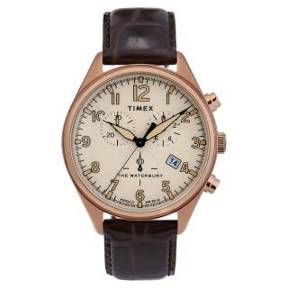 Montre Homme Timex WATERBURY en cuir marron
