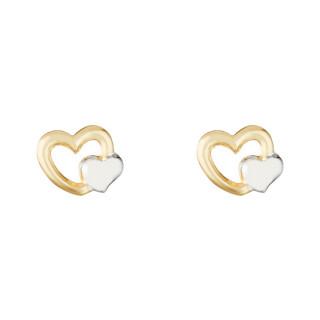 Boucles d'oreilles enfant Or Bicolore 375/1000