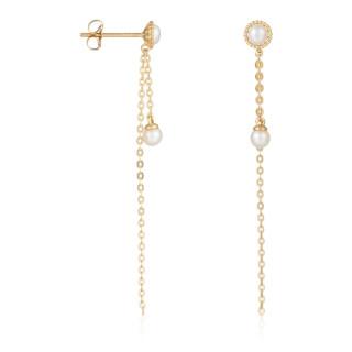 Boucles d'oreilles Or jaune 375/1000 et perles