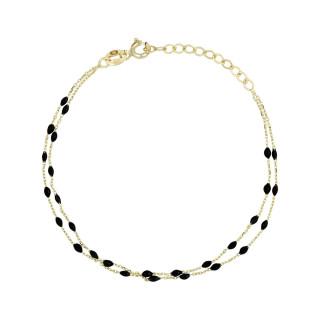 Bracelet Or jaune 375/1000 et émail