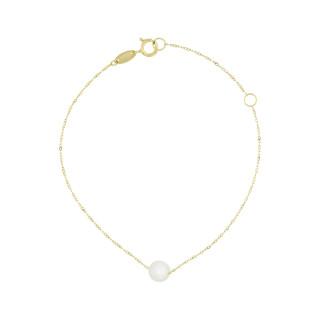 Bracelet Or jaune 375/1000 et perles