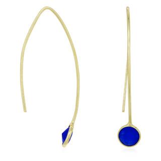 Boucles d'oreilles doré et jade