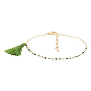Bracelet doré et pierres naturelles