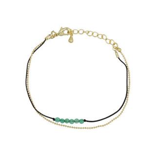 Bracelet doré et jade