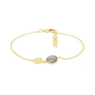 Bracelet doré et labradorite