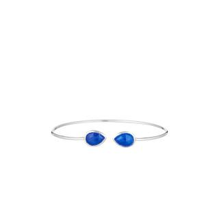 Bracelet argenté et jade