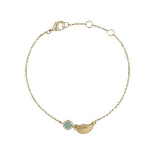 Bracelet doré et amazonite
