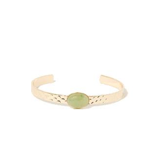 Bracelet en laiton doré et jade
