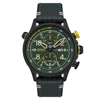 Montre AVI-8 HAWKER HUNTER  mécanique quartz - cadran et bracelet vert