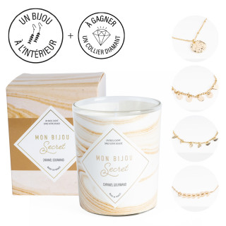 Bougie Bijou Bracelet doré - Parfum Caramel gourmand - 40h