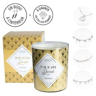 Bougie Bijou Bracelet argenté - Parfum Fleur de vanille - 40h