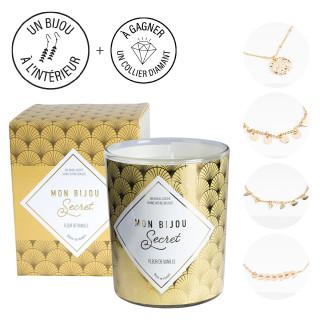 Bougie Bijou Bracelet doré - Parfum Fleur de vanille - 40h