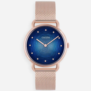 Montre femme Awake ODYSSEE CANOPEE MESH Quartz - Bleu - 34 mm - AW19RG003W