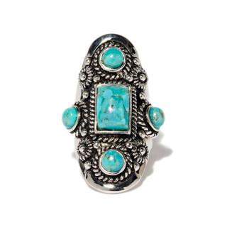 Bague Xochipilli Turquoise Argent 925