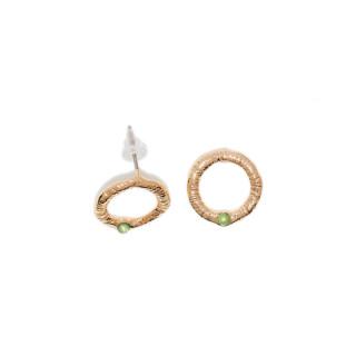 Boucles d'oreilles doré et pierres naturelles