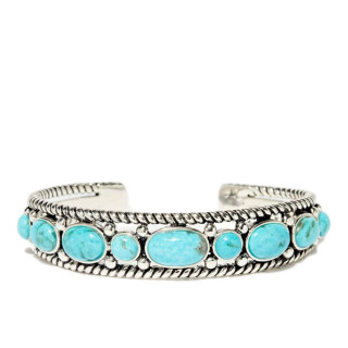 Bracelet ajustable argent massif et pierre naturelle