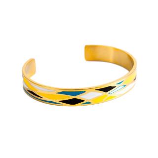 Bracelet ouvert VENISE émail multicolore finition dorée