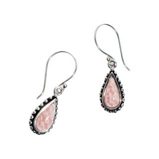 Boucles d'oreilles argent massif et pierre naturelle