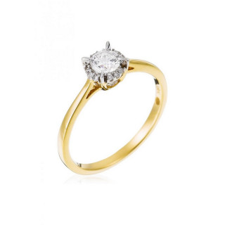 Solitaire Or Jaune et Diamants 0,33 carat AMOUREUSE