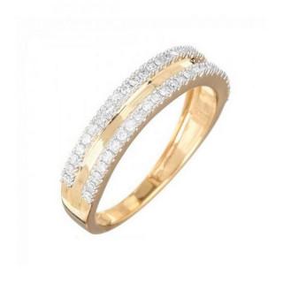 Bague Or Jaune 375 DOBLE Diamants 0,25 carat
