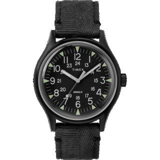 Montre Homme Timex MK1 SST Boîtier 40mm en Acier Noir Cadran INDIGLO® Noir - TW2R68200