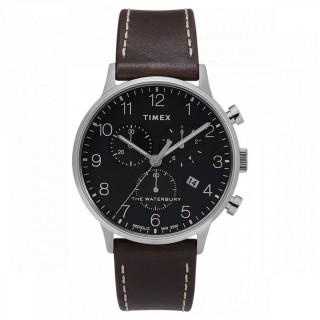 Montre Homme Timex Waterbury Classic Chrono Boîter SST 40mm en Acier Cadran Noir  - TW2T28200