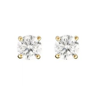 Boucles d'oreilles or jaune et oxydes de zirconium Simply You
