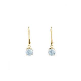 Boucles d'oreilles Or jaune 375/1000 et pierres