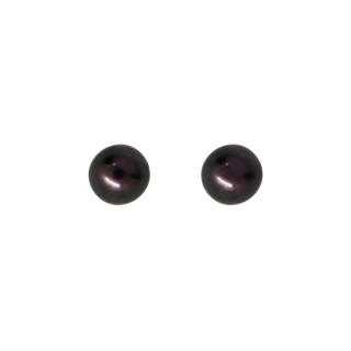 Boucles d'oreilles or blanc et perles de culture Noires My Pearl