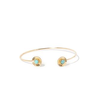 Bracelet doré et turquoise