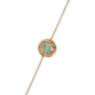Bracelet Bohème doré et vert