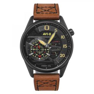 Montre Homme AVI-8 HAWKER HARRIER II en cuir marron