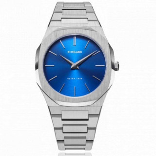 Montre D1 Milano ULTRA THIN Quartz - Cadran Argenté - 40 mm - UTBJ09