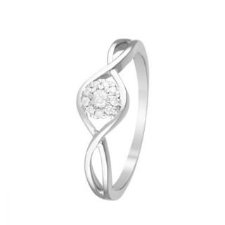 Bague Touch of Magic Or blanc et Diamants