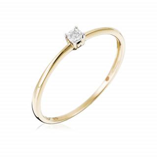 Solitaire Or Jaune et Diamant 0,01 carat PETIT SOLITAIRE