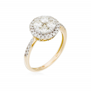 Solitaire Or Jaune et Diamants 0,74 carat POMPADOUR